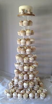 New 10 Tier Circle Cupcake Wedding Cup Cake Party Stand
