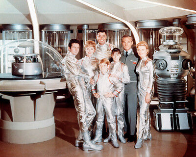 Lost In Space Cast & Robot Spacesuits Color 11X14 Photo