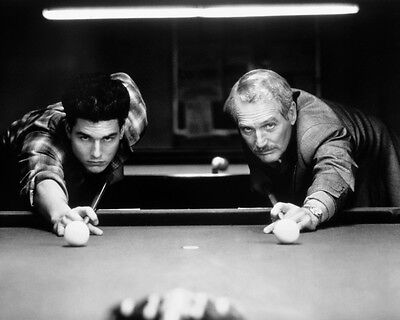 Tom Cruise Paul Newman Playing Pool Color Of Money Rare