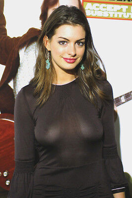 Anne Hathaway Busty In See Thru Dress 24X36 Poster