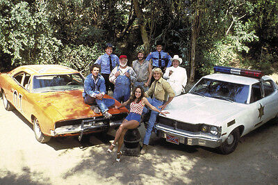 Dukes Of Hazzard Color 24X36 Poster Whole Cast & Cars