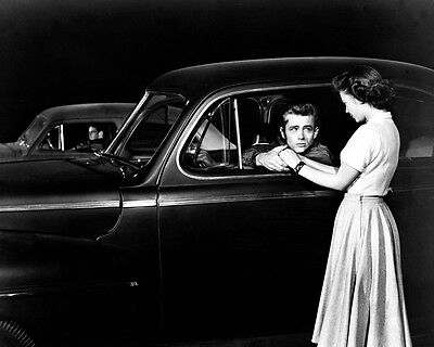Rebel Without A Cause Natalie Wood James Dean 1949 Mercury Coupe Car B/W Photo