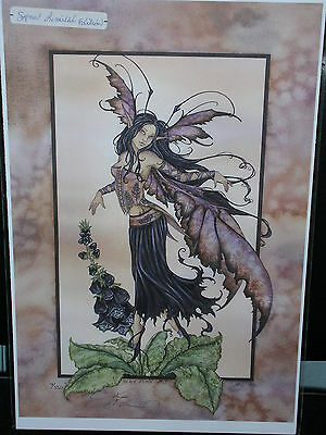 Amy Brown - Black Foxgloves - Limited Edition - RETIRED