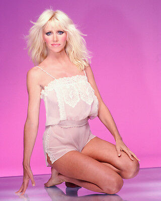Suzanne Somers Harry Langdon Glamour Pose Color Photo