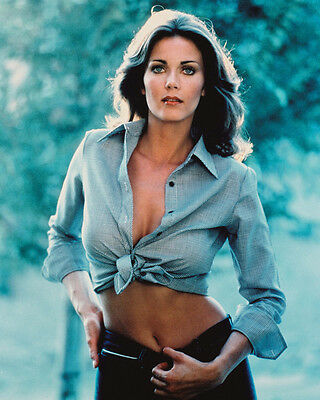 LYNDA CARTER SEXY GLAMOUR POSE BARE MIDRIFF 8X10 COLOR