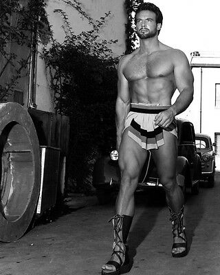 Steve Reeves Bare Chested Hunky B&w 8X10 Photo