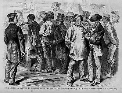 Negroes Colored Voters First Municipal Election Negroes