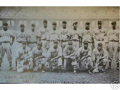 Black Negro 1939 Baseball Players Poster Print 11X17