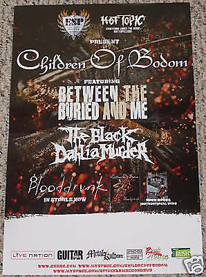 Children of Bodom TOUR POSTER Between The Buried And Me