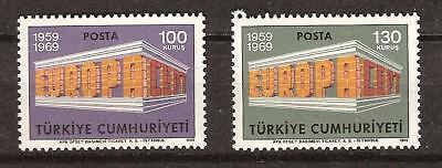 TURKEY # 1799-1800 MNH Europa 1969