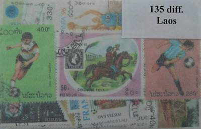 LAOS Stamps Collection - 135 Different Stamps