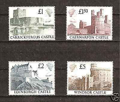 Great Britain #1230-3 Mnh Famous English Castles
