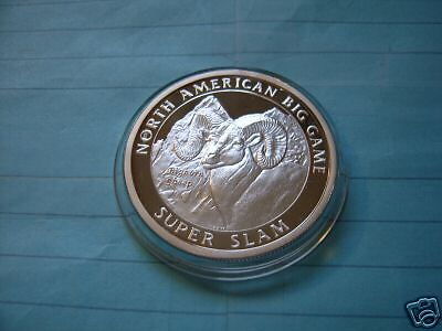 Bighorn Sheep Super Slam Hunting Club 999 Silver Coin Rare Cool Item