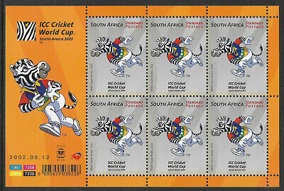 SOUTH AFRICA 2002 ICC CRICKET WORLD CUP Sheet No 3  MNH