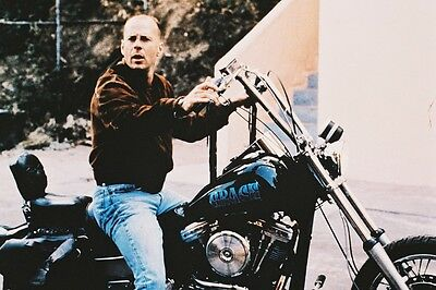 Bruce Willis Pulp Fiction Col 24X36 Poster On Chopper