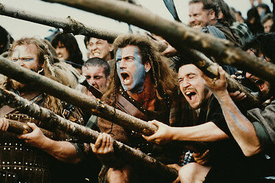 Mel Gibson Braveheart With Spears Battle 24X36 Poster
