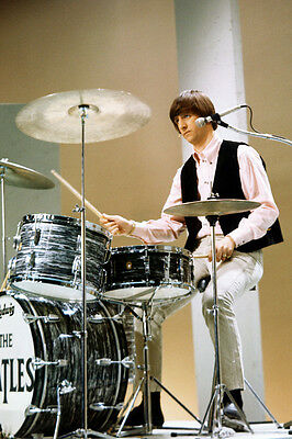 Ringo Starr The Beatles On Drums 36X24 Poster Print