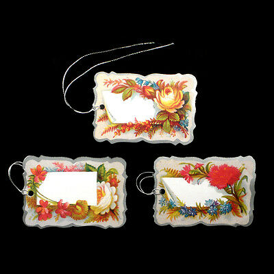 75 Edwardian Floral Gift Tags with Roses & Carnations by Courtier ET0021