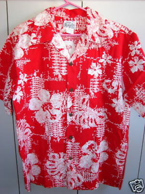 Evelyn Margolis XL Psychedelic Flowers on Red 70's/NWOT