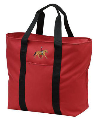 HUNT SEAT horse embroidered tote bag ANY COLOR