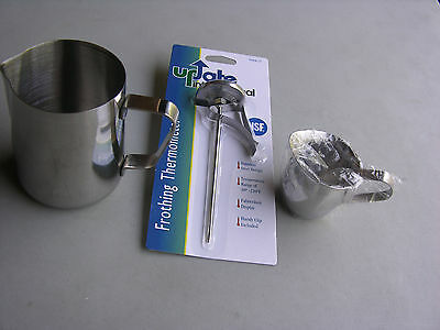 Usa Seller  12 Oz Espresso Set 3 Pieces Stainless Steel Free Shipping Us Only