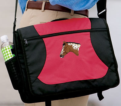 APPALOOSA horse embroidered messenger bag ANY COLOR