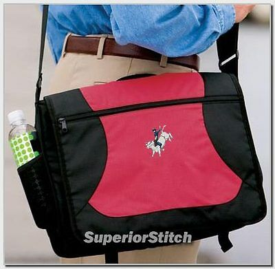 BULL RIDING horse embroidered messenger bag ANY COLOR