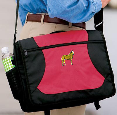 HAFLINGER horse embroidered messenger bag ANY COLOR