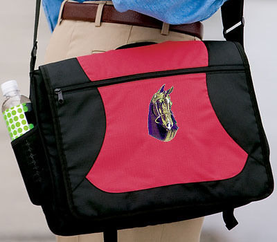 HORSE HORSES embroidered messenger bag ANY COLOR