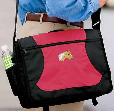 PALOMINO HORSE embroidered messenger bag ANY COLOR