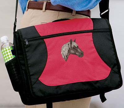 ROCKY MOUNTAIN HORSE embroiderd messenger bag ANY COLOR