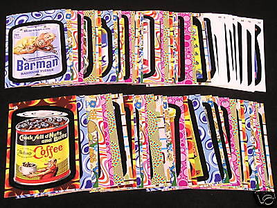2008 Topps Wacky Packages Flashback 2 COMPLETE 72 sticker card BASE SET