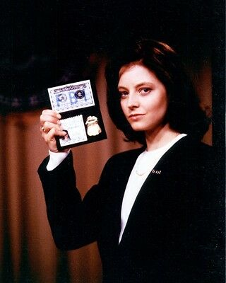 Jodie Foster The Silence Of The Lambs Fbi Badge Photo