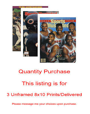 Any 3 Unframed 8x10 prints - packed & delivered safely