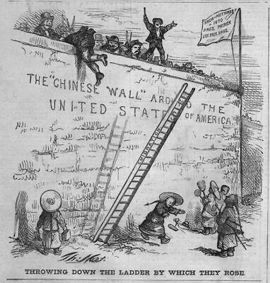 Chinese Wall Around The United States, 1870 Emigration