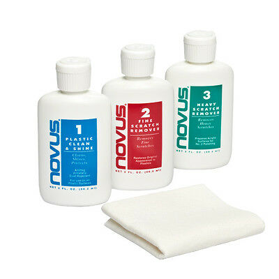 Novus Plastic Cleaner Scratch Remover Polish Renew Kit