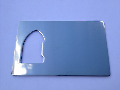 NEW Credit Card Size Bottle Opener THIN Stainless Steel For your wallet cooler