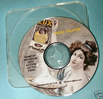 WHISTLE STOP Alan Ladd & Evelyn Keyes 1946 otr audio CD Lux RAdio Theater