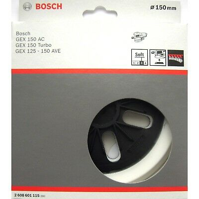 Bosch SOFT 150mm Sanding Backing Pad GEX 150 AC TURBO 125-150 AVE  2 608 601 115
