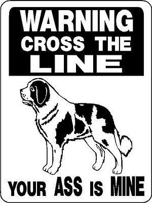 ST. BERNARD DOG WARNING Aluminum Sign Dog Decal V2846