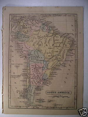 Antique Map SOUTH AMERICA Parley Boynton 1858