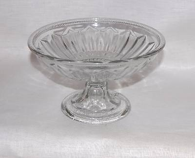 EAPG Flint Pressed Glass Low Compote Wafer Connection
