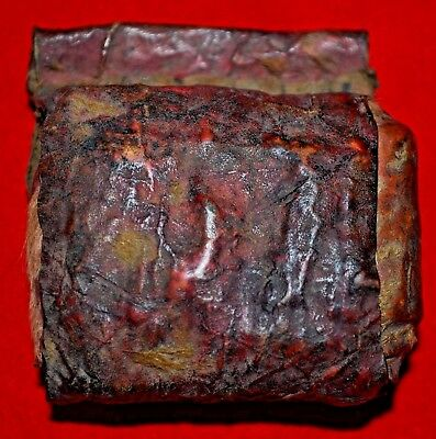 Antique Ethiopian Christian Healing Scroll Leather Amulet Kitabe Ethiopia Africa