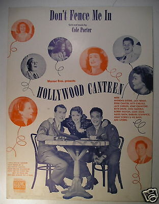 WWII Sheet Music DON'T FENCE ME IN Cole Porter 1944