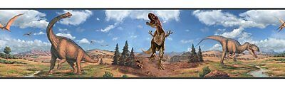 Dinosaurs Wall Border Boys Room Decor Wallpaper Stickers Decorations T-Rex Decal