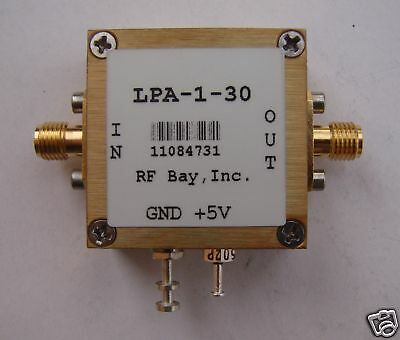 5-1000MHz 30dB Gain 5V RF Amplifier, LPA-1-30, New, SMA