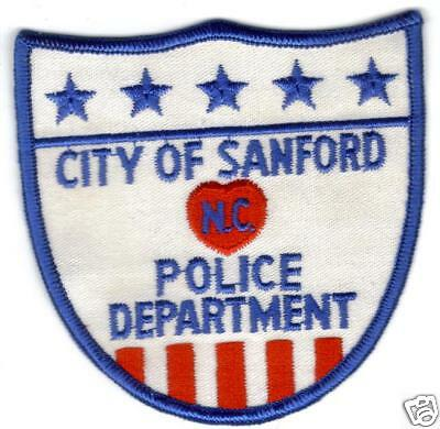 Sanford North Carolina  Police Patch