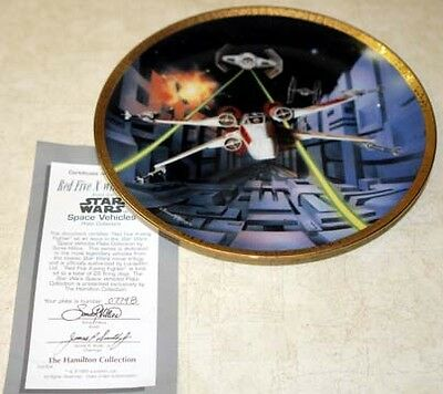 Star Wars Red Five X-wing Fighter  Plate Space Vehicle