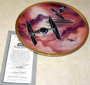 Star Wars TIE Fighters Plate Space Vehicles Ship