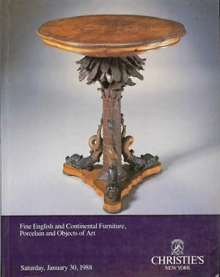 Christie's Fine English & Continental Furniture 1/30/88